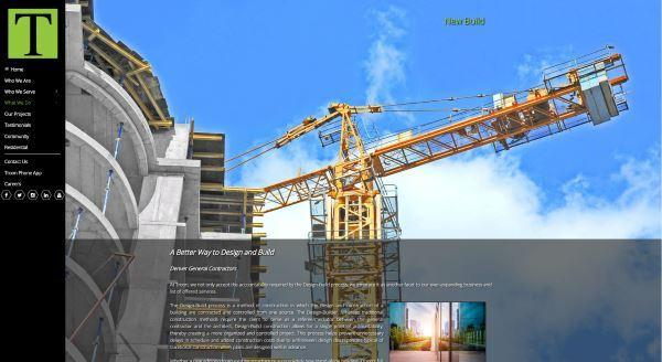 Picture of crane with blue sky in construction website