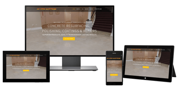 Contractor website for Colorado Hard Surfaces Concrete Contractor